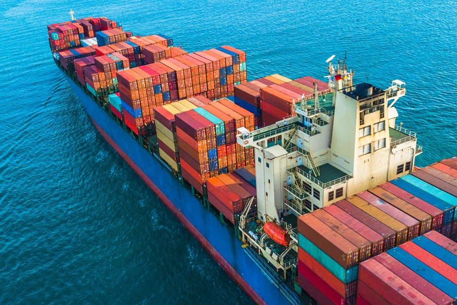 Ocean Marine Insurance - Cargo Ship Sailing Along the Ocean